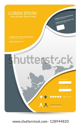 template for advertising brochure - stock vector