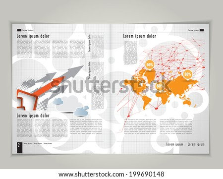 Template for advertising brochure. Editable vector - stock vector