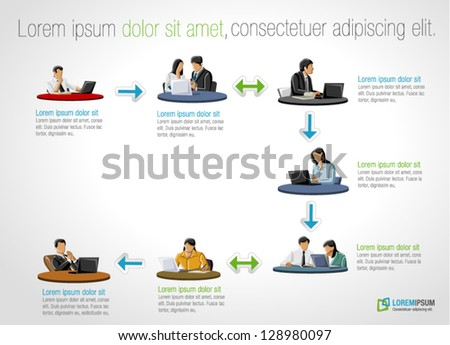 Project management process stock images royalty free for Business process catalogue template
