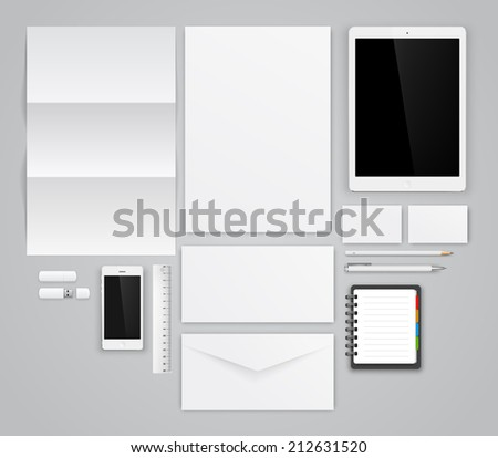 Template for branding identity. Vector graphic design presentations and portfolios. - stock vector