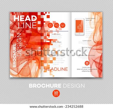 Template for brochure. Vector illustration - stock vector