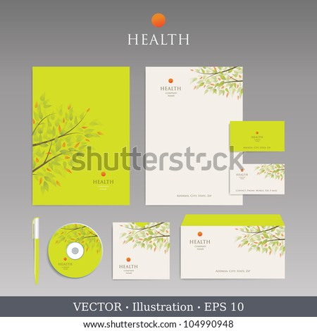 Template for Business artworks.  Nature. Vector - stock vector