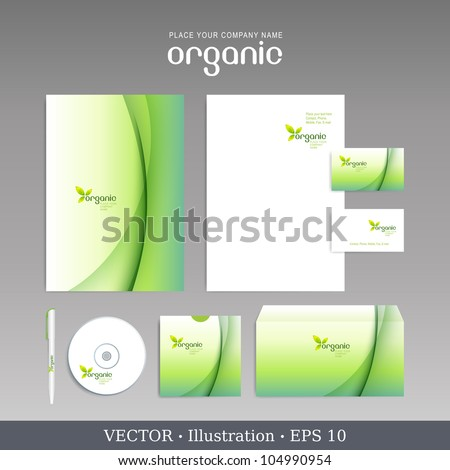 Template for Business artworks. Vector Bio style. - stock vector