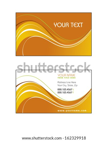 Template for Business Card. - stock vector