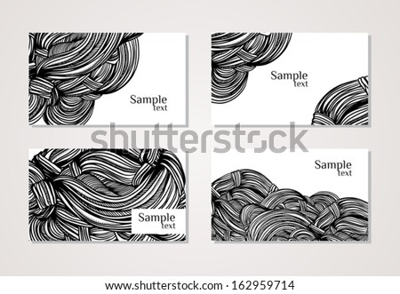 template for business cards with abstract graphic