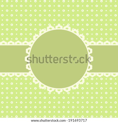 Template for congratulations on a holiday. A vector illustration.