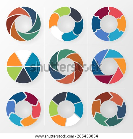 Template for diagram, graph, presentation and chart. - stock vector