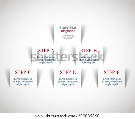 Template for diagram, graph, presentation and chart. Business concept with 5 or 6 options, parts, steps or processes. Vector infographic  - stock vector