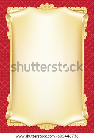template diploma certificate card scroll decorative stock vector