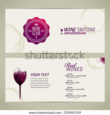 template event party suitable tasting events stock vector, Presentation templates