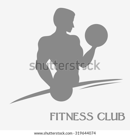 Male crossfit silhouette