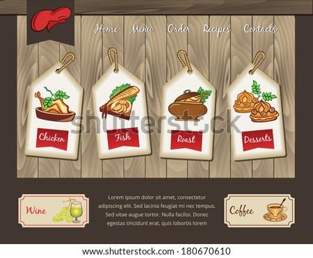 Template for food menu - stock vector