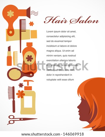 template for hair salon or barber shop - stock vector