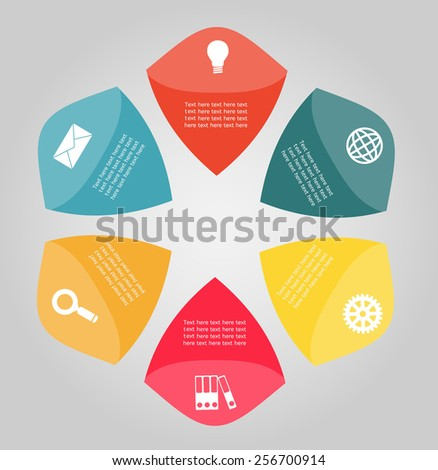 Template for infographic - stock vector