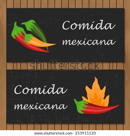 Template for menu or booklet with cartoon mexican food for your design - stock vector