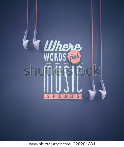 Template for music quotes, eps 10 - stock vector