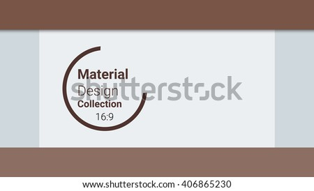 template for presentation in 16: 9 format. vector illustration. designed for business background, education, web, brochure, flyer. abstract creative concept layout template in brown colors - stock vector