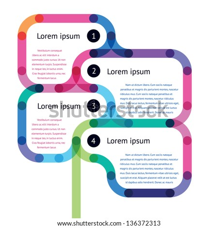Template Step Instruction Form Sty Stock Vector