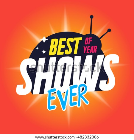 Template Tv Shows Shows Time Best Stock Vector 482332006