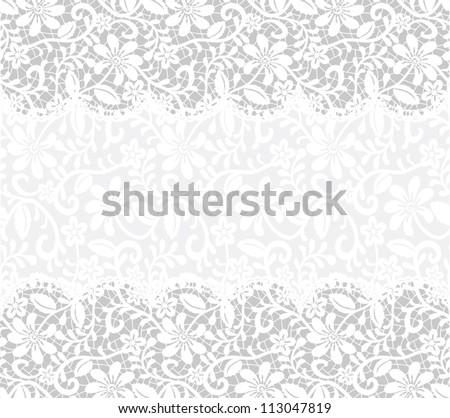 Template wedding invitation greeting card lace stock vector royalty template for wedding invitation or greeting card with lace fabric background horizontal seamless pattern stopboris Images