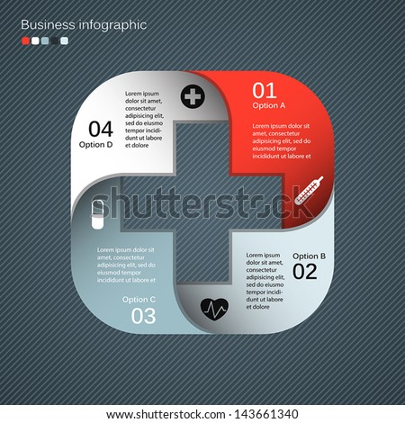 Template for your medical presentation with text areas (info graphic) - stock vector