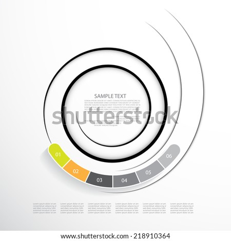 Template for your presentation, business concept with six option - stock vector