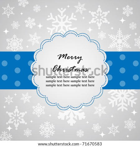 Template frame design for christmas card