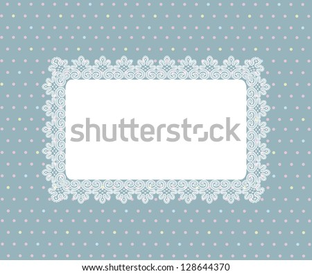 Template  frame design for greeting card,
