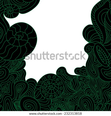 Template frame design. Useful for packaging, invitations, decoration, bag template, etc - stock vector