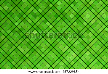Template green mosaic background for web design. Vector illustration