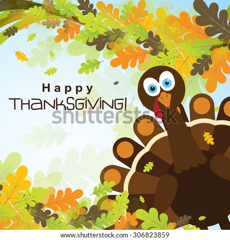 Template greeting card happy thanksgiving turkey stock photo photo template greeting card with a happy thanksgiving turkey vector illustration m4hsunfo