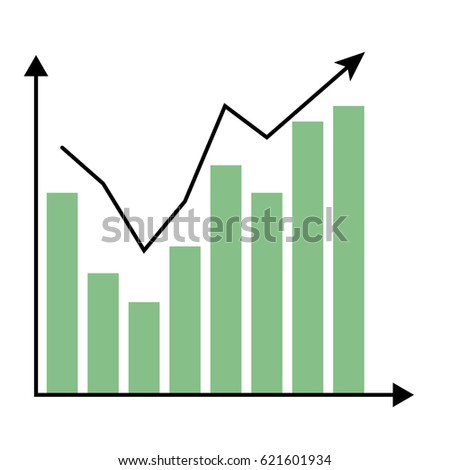 Abstract Business Chart Uptrend Line Graph Stock Vector 468411332