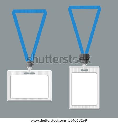 Template Lanyard Retractor End Badge Badge Stock Vector 184068269 ...