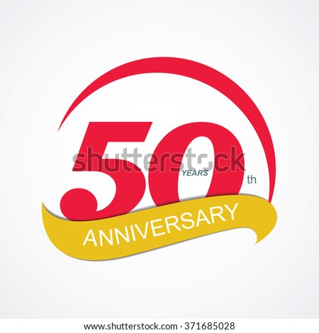 Template Logo 50 Anniversary Vector Illustration EPS10 - stock vector