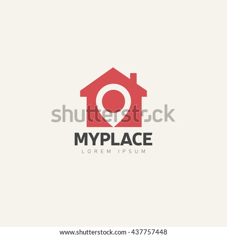 Template Logo For Real Estate Agency Or Cottage Town Elite Class
