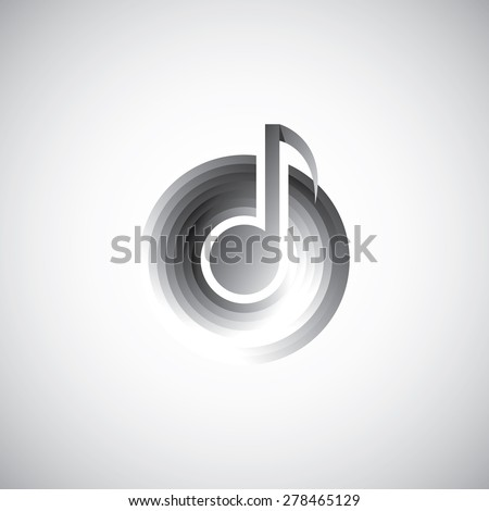 Musical Note Template. Music Notes Background With Piano Music