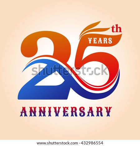 25th anniversary stock images royalty free images vectors shutterstock - Color of th anniversary ...