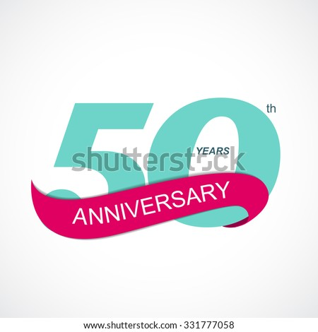 Template Logo 50th Anniversary Vector Illustration EPS10  - stock vector