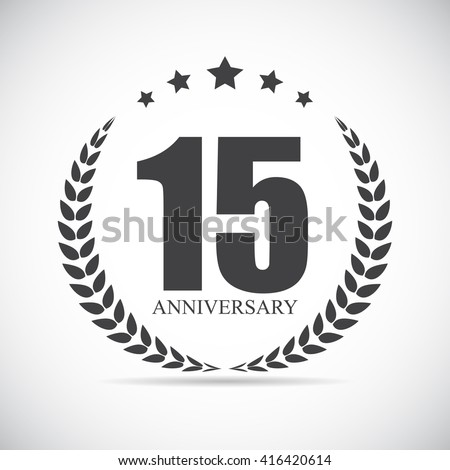 Template Logo 15 Years Anniversary Vector Illustration EPS10 - stock vector