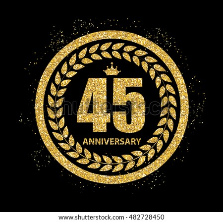 Template Logo 45 Years Anniversary Vector Illustration EPS10