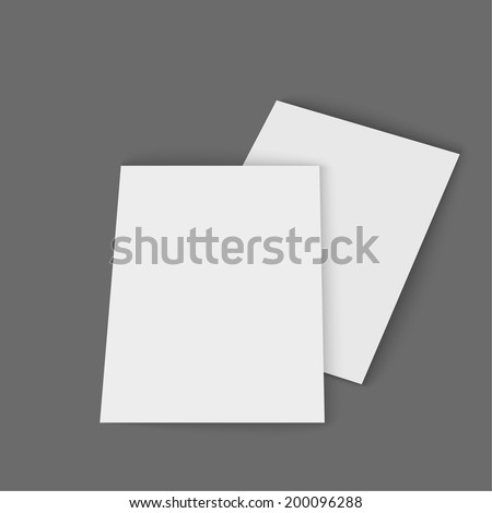 Template magazine, booklet, postcard, business card or brochure on a gray background.   - stock vector