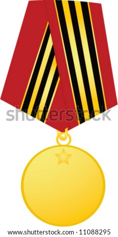 Template medal on white background