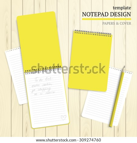 Template notepad design cover papers stock vector 306953825 template notepad design cover and papers pronofoot35fo Images