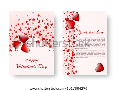 Template Brochure Romantic Style Valentines Day Stock Vector