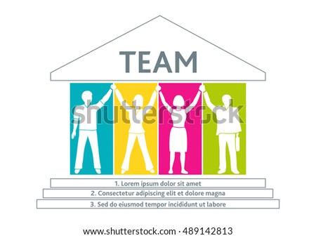 Template Bannerposterbrochurepresentation Team Workers Who Achieves ...