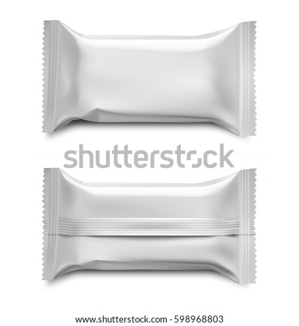 Template blank flow packaging food cosmetic stock vector 598968803 template of blank flow packaging for food cosmetic and hygiene vector illustration on white pronofoot35fo Images
