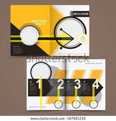 template of brochure design with spread pages - stock vector