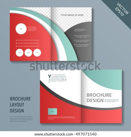 Template Brochure Design Spread Pages Stock Vector Hd Royalty Free