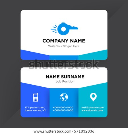 template business card equipment sale sport stock vector 571832836