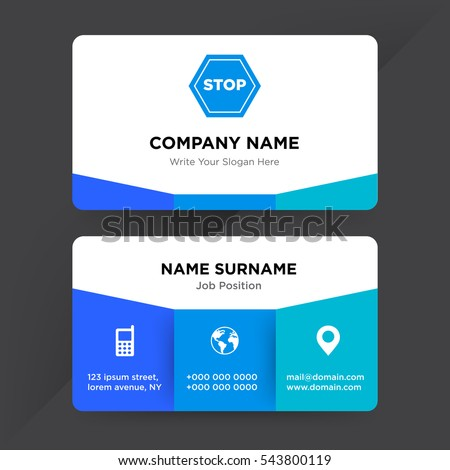 Template Business Card Transport Services Company Stock Vector - Template of business card